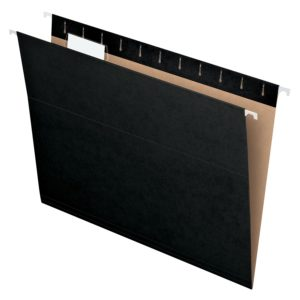 cool black hanging folders