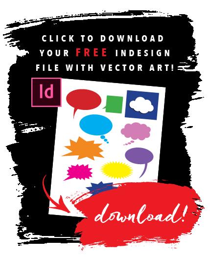 Get FREE InDesign vector art!